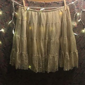 Free People lace skirt slip